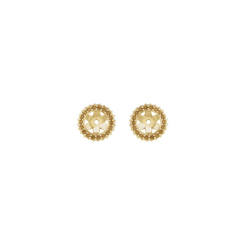 18K Yellow 5 mm Round Earring Jacket Mounting