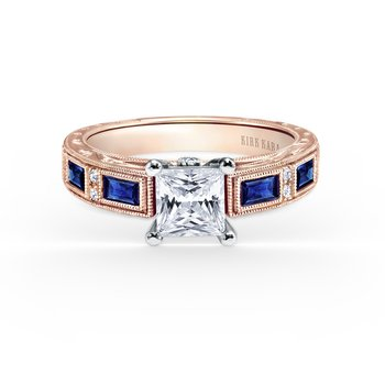 Sapphire Colorful Diamond Engagement Ring