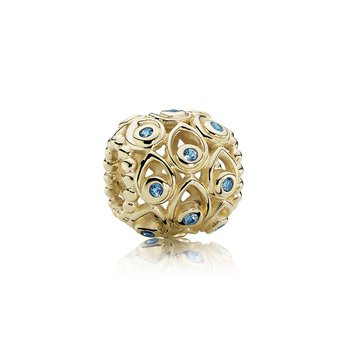 Ocean Treasures, Deep Blue Topaz 14K Gold