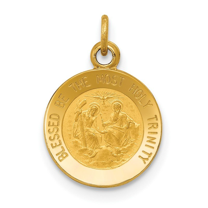 Quality Gold 14k Holy Trinity Medal Charm