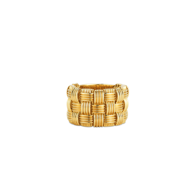 Roberto Coin 18KT GOLD 3 ROW RING