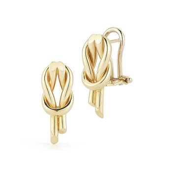18Kt Gold Slip Knot Earrings