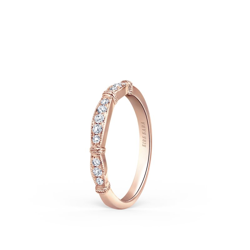 Kirk Kara Classic Milgrain Diamond Wedding Band