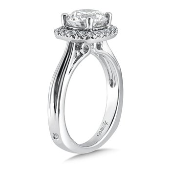 Cushion-Shape Halo Engagement Ring in 14K White Gold with Platinum Head (2ct. tw.)