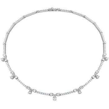 6.95 ctw. Aerial Diamond Line Necklace