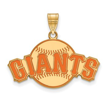 Gold-Plated Sterling Silver San Francisco Giants MLB Pendant