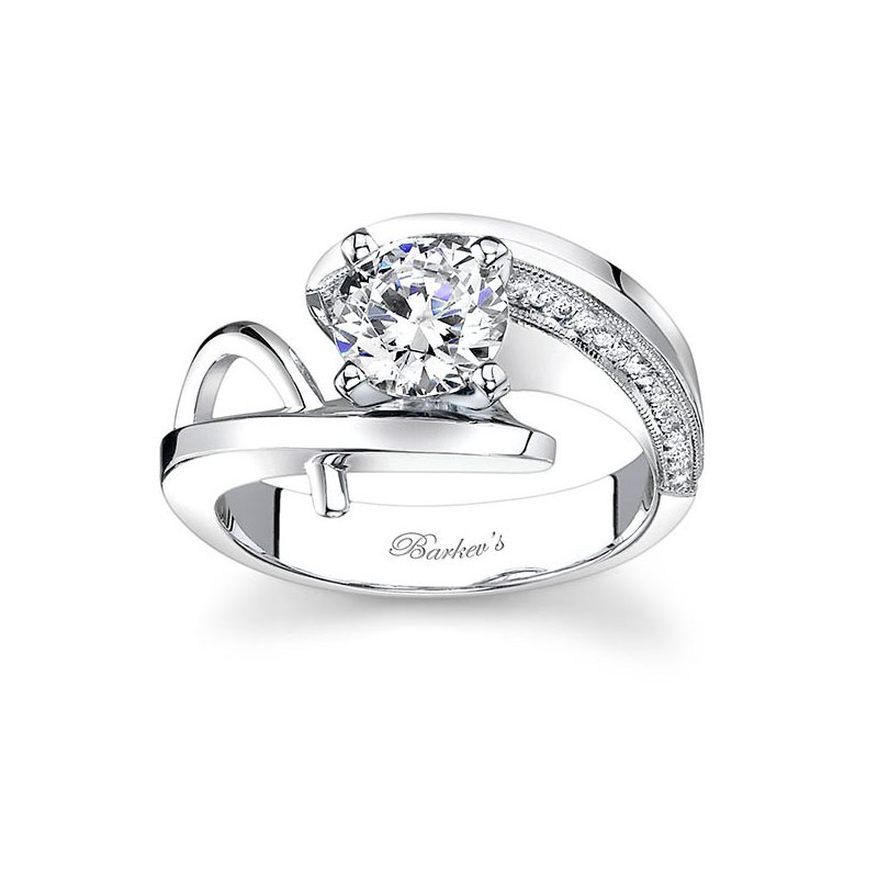 Barkev's White Gold Engagement Ring - 7619LW