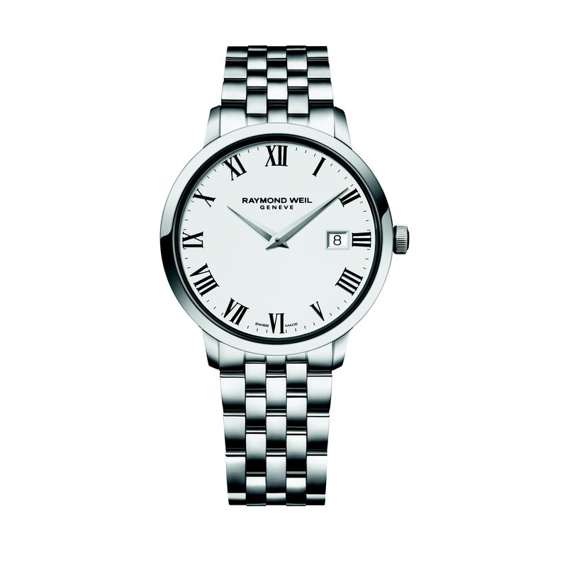 Raymond Weil Men's Quartz Watch, 39 mm Steel on steel, white dial