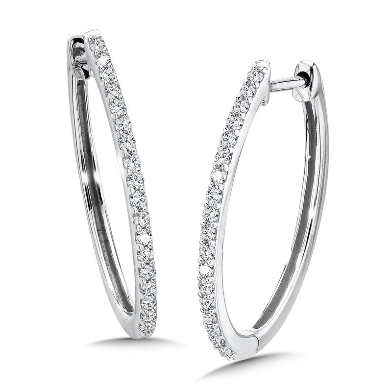 SDC Creations Diamond Hoops in 14k White Gold (1/4 ct. tw.)