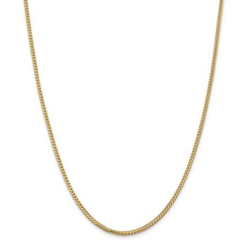 14k 2mm Franco Chain