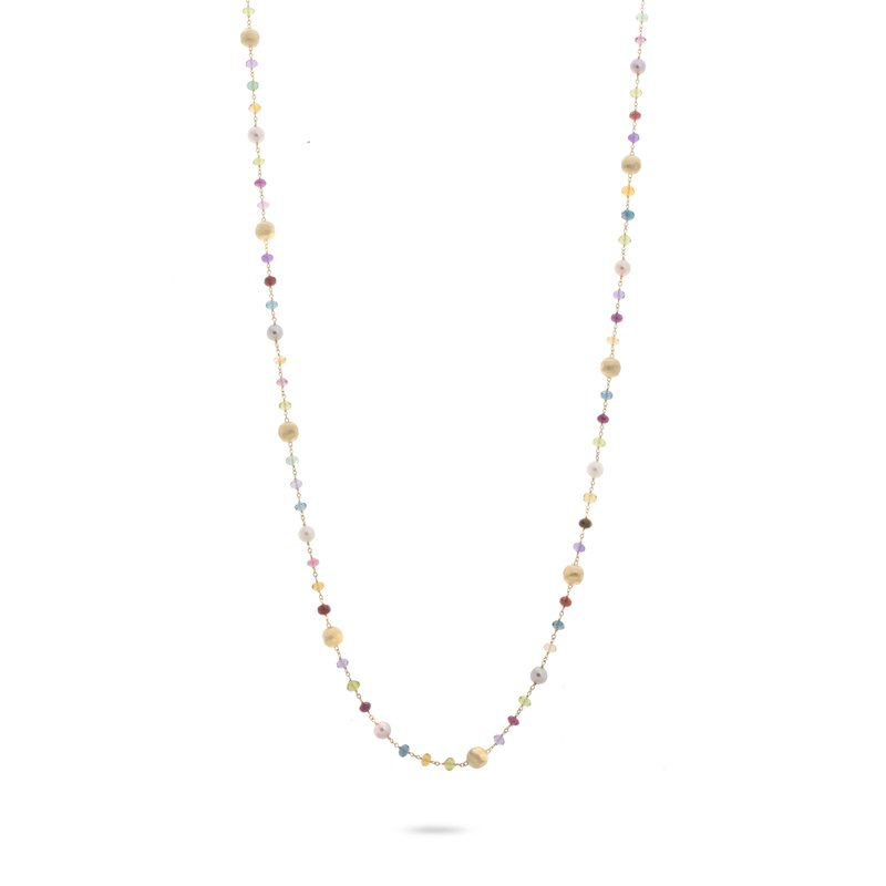 Marco Bicego Africa Gemstone and Pearl Long Necklace