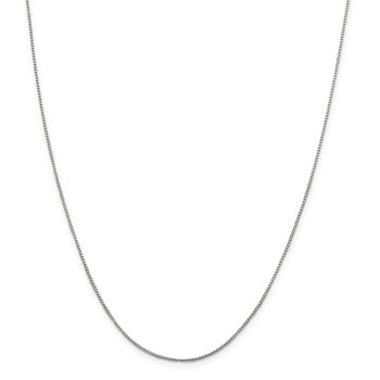Sterling Silver 1mm Round Box Chain
