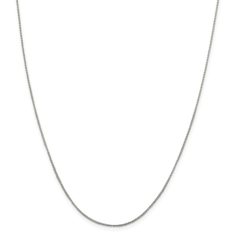 Quality Gold Sterling Silver 1mm Round Box Chain