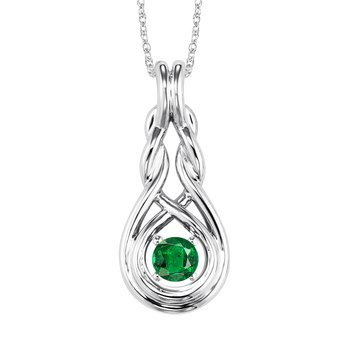 Silver Emerald Pendant  ( Available in All Birthstone )