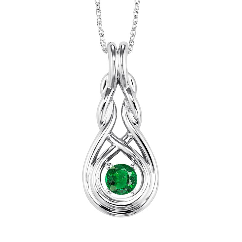 Mixables Silver Emerald Pendant  ( Available in All Birthstone )