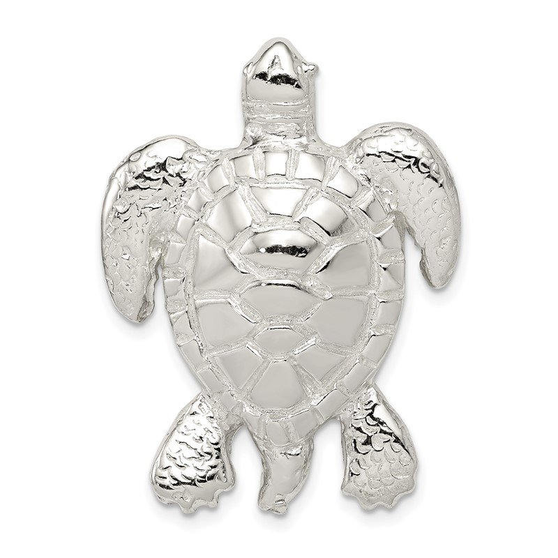Quality Gold Sterling Silver Turtle Slide