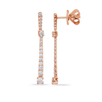 Rose Gold Diamond Fashion Earring