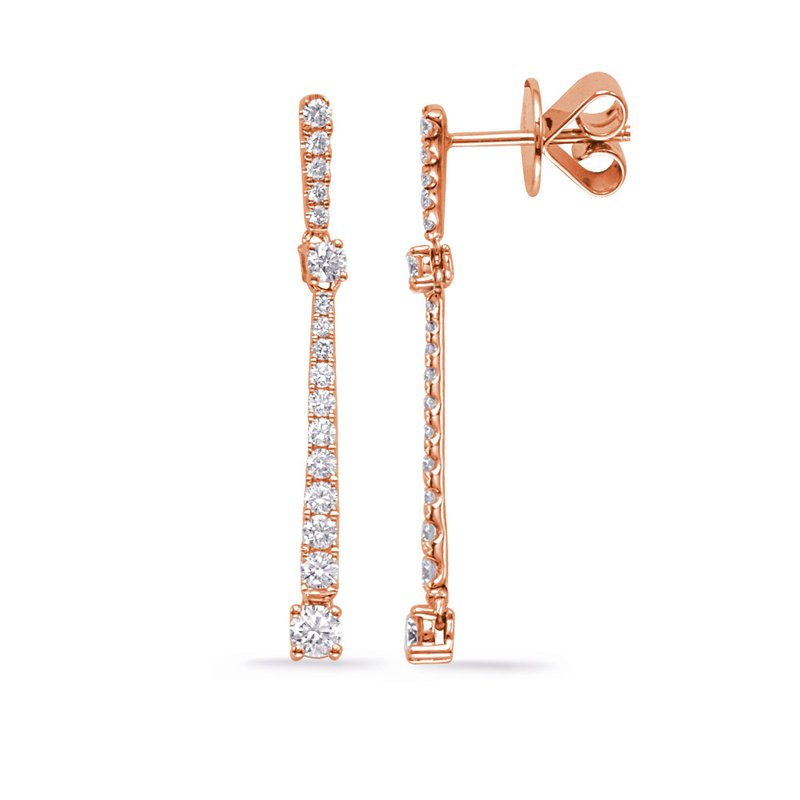 Briana Rose Gold Diamond Fashion Earring