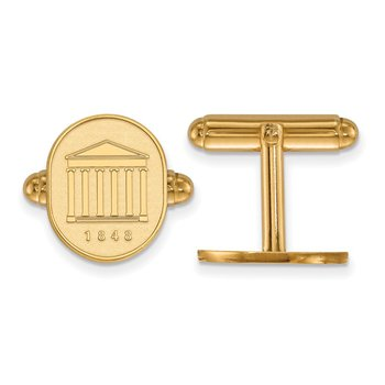 Gold University of Mississippi NCAA Cuff Links