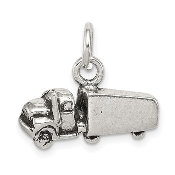 Sterling Silver Antiqued Truck Charm