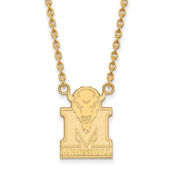 Gold-Plated Sterling Silver Marshall University NCAA Necklace
