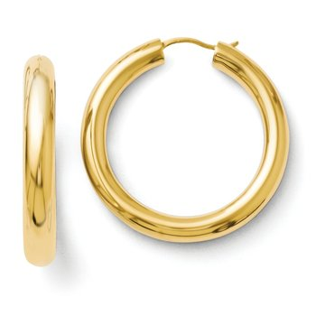 Leslie's Sterling Silver Gold-plated 5mm Tube Earrings