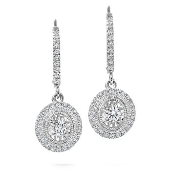 Oval Design Diamond Accent Earrings