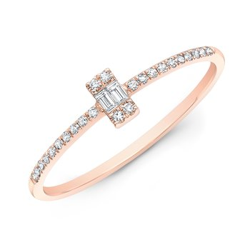 Rose Gold Baguette Stackable Band
