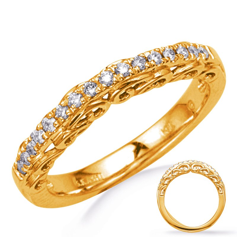MAZZARESE Bridal Yellow Gold Wedding Band