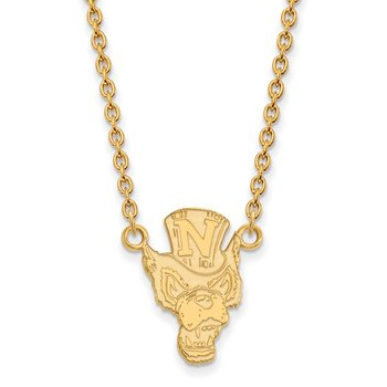 Gold-Plated Sterling Silver University of Nevada NCAA Necklace