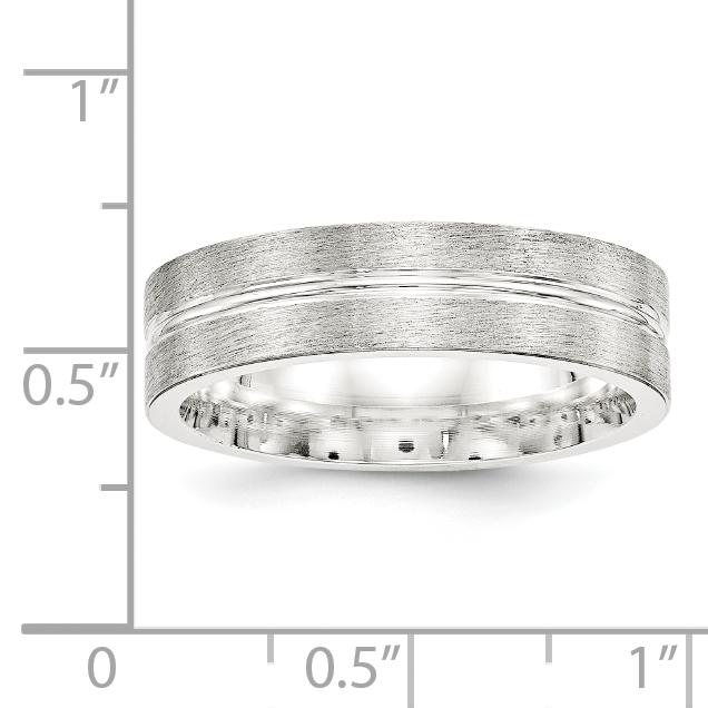 Bridal Wedding Bands Fancy Bands SS 8mm Polished Fancy Band Size 10 Size 11.5
