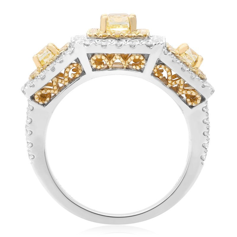 Roman & Jules Two Tone Diamond Fashion Ring