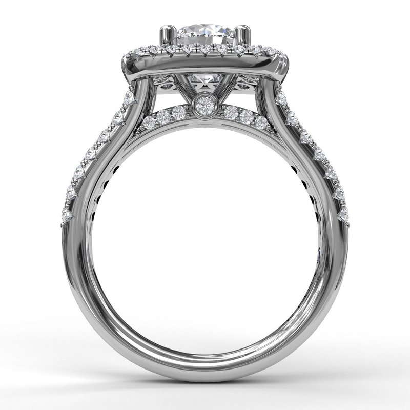 Fana Exquisite Unique Double Halo Engagement Ring
