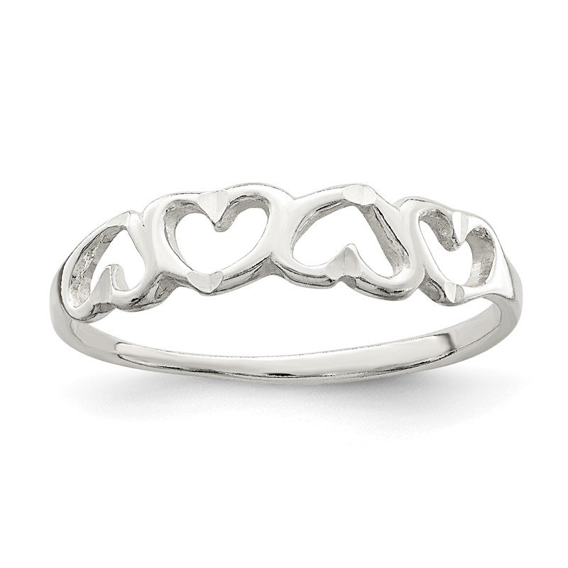 Quality Gold Sterling Silver Heart Ring