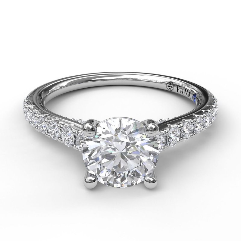 Fana Delicate Classic Engagement Ring with Delicate Side Detail