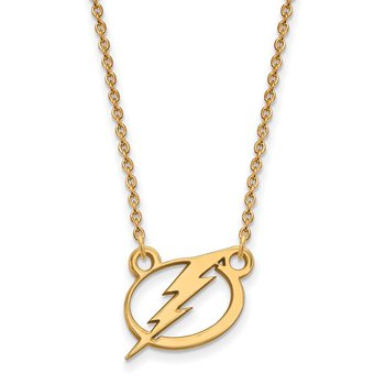 Gold Tampa Bay Lightning NHL Necklace
