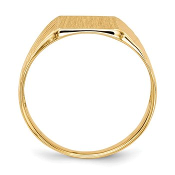 14k 9.5x8.0mm Open Back Signet Ring