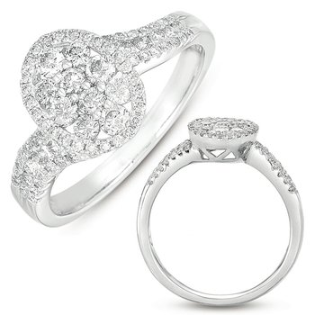 White Gold Fashion Ring
