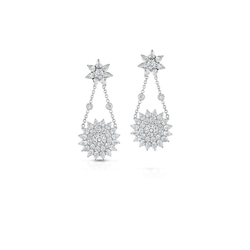 Roberto Coin Cento Star Chandelier Earrings