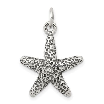 Sterling Silver Antiqued Starfish Charm