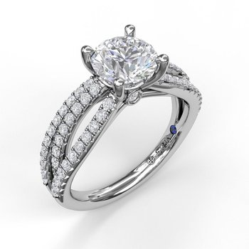 Enchanting Wave Band Engagement Ring