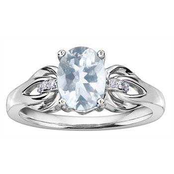 Aquamarine Ladies Ring