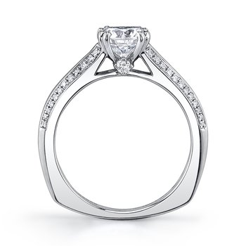 MARS 26251 Diamond Engagement Ring 0.21 Ctw.