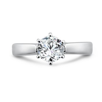 Classic Elegance Collection Six-Prong Solitaire Engagement Ring in 14K White Gold with Platinum Head (1ct. tw.)