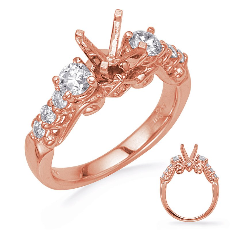 S. Kashi & Sons Bridal Rose Gold Diamond Engagement Ring