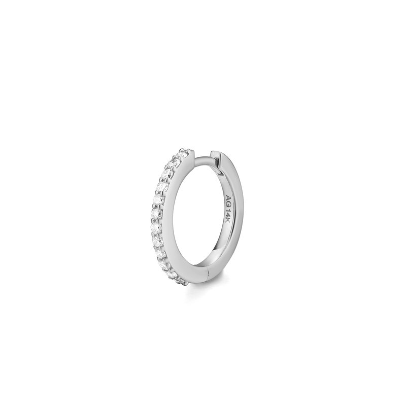 Aurelie Gi Ola | Single Diamond Pave Huggie