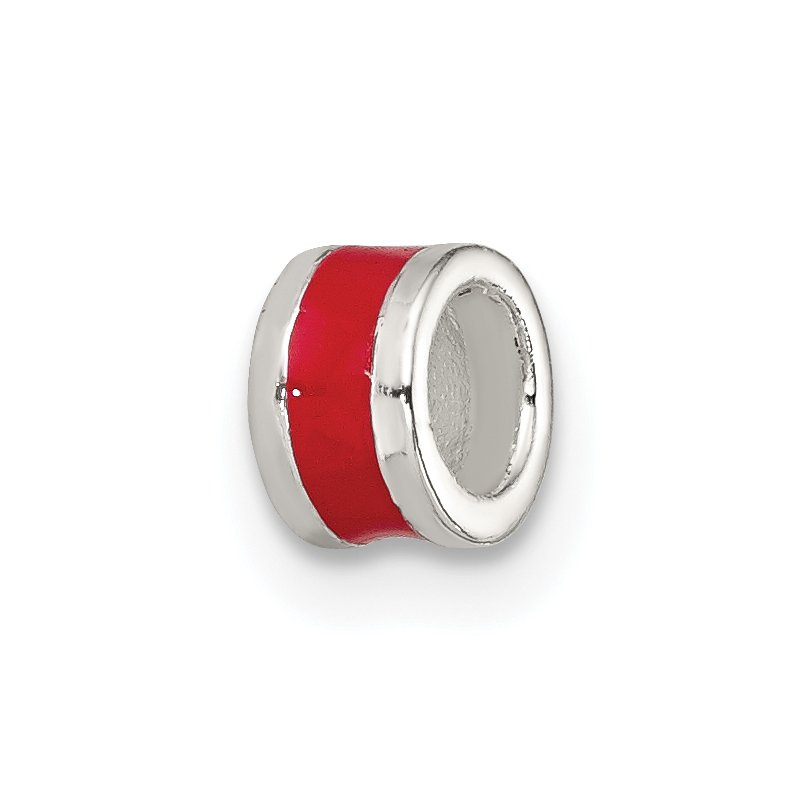 Quality Gold Sterling Silver Red Enameled Spacer Enhancer