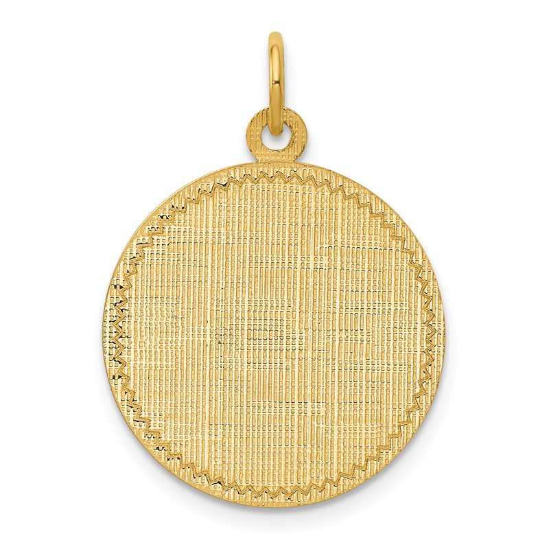 Quality Gold 14k Patterned .013 Gauge Circular Engravable Disc Charm