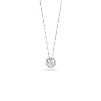 18KT GOLD PEACE SIGN PENDANT WITH DIAMONDS