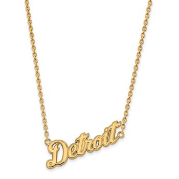 Gold Detroit Tigers MLB Necklace